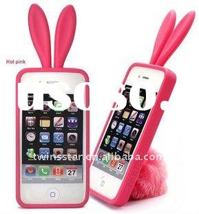 for Apple Iphone 4 rabbit case&silicon case