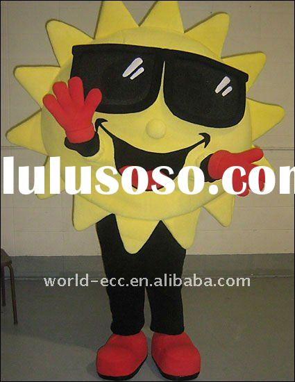 fur sun flower mascot costume, cartoon costume, fancy dress costume