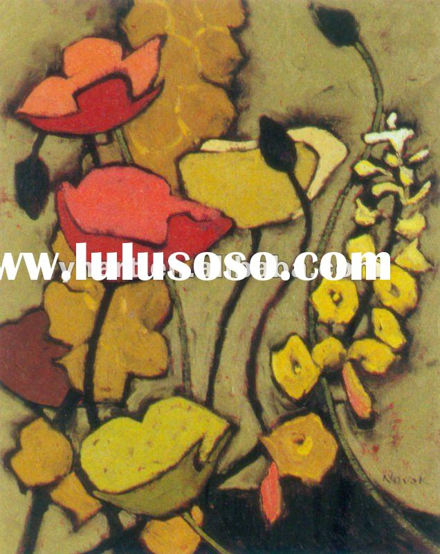 hand painted flower designs fabric painting