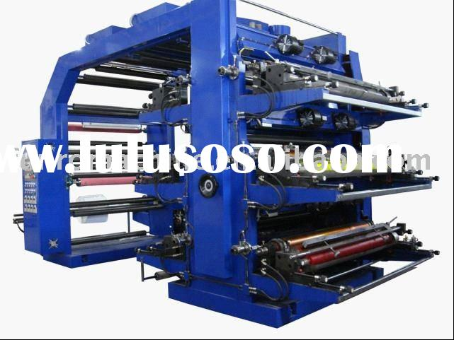 high speed flexo printing machine six color