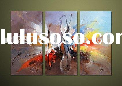home decoration picture,canvas oil painting,imitation metal painting