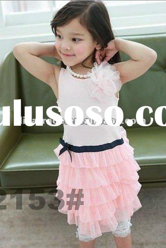 hot sale korean style kids wear, lovely summer girl dress, cute girl's skirt