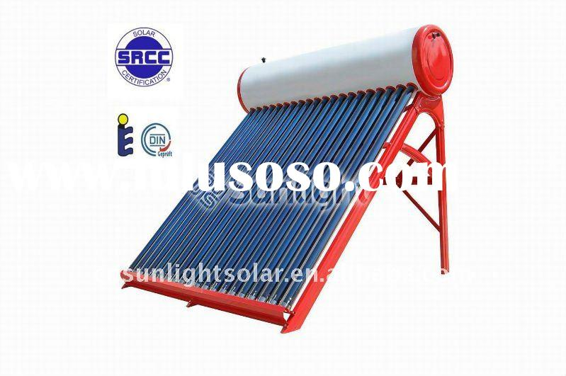 integrated non-pressurized solar water heater,solar water heater with assistant tank,solar water hea