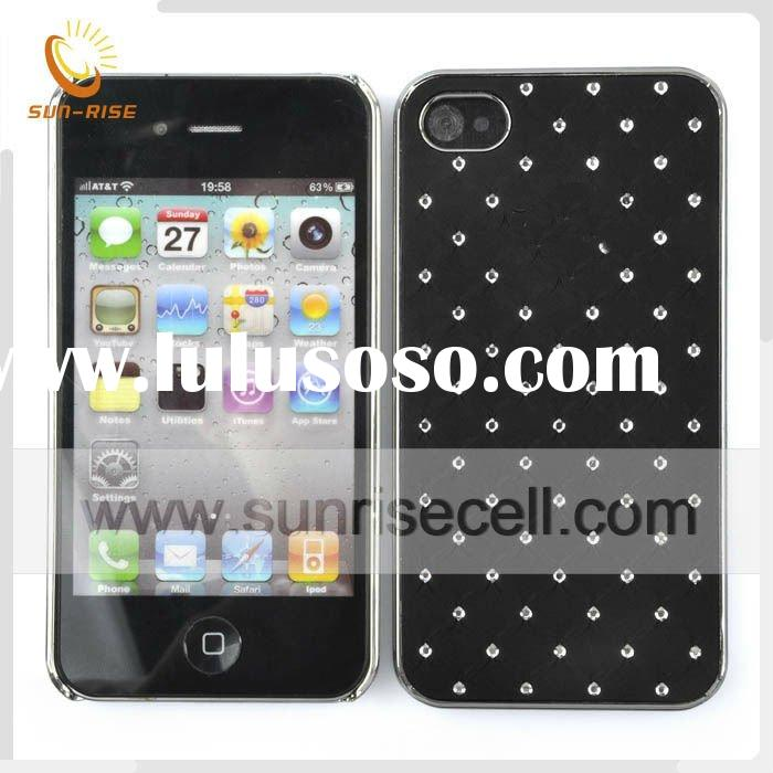 jeweled mobile phone cover for iphone 4