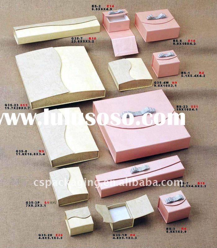jewelry and gift paper box with ribbon