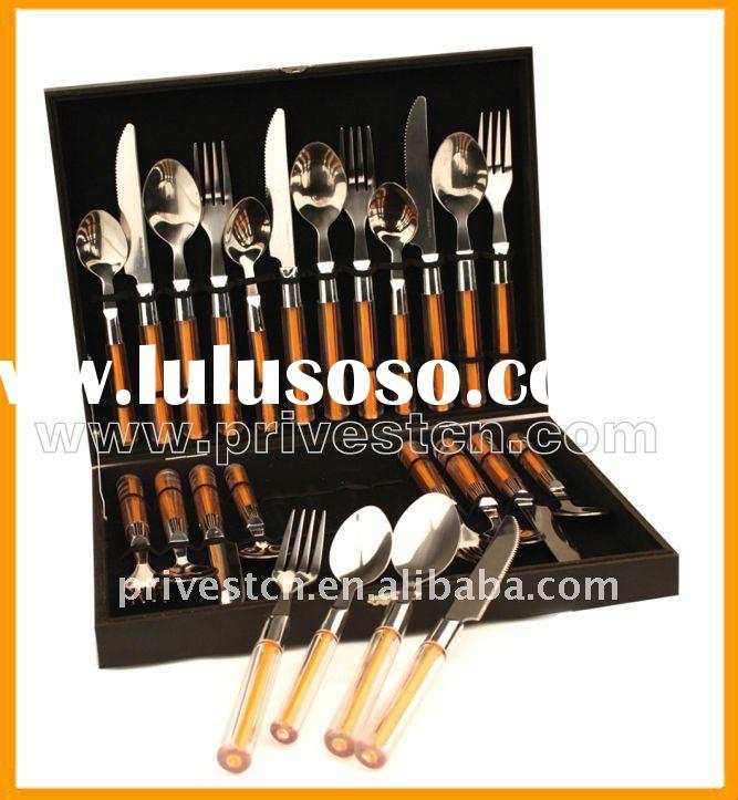 kn-3040 plastic handle Knife Fork and Spoon Set