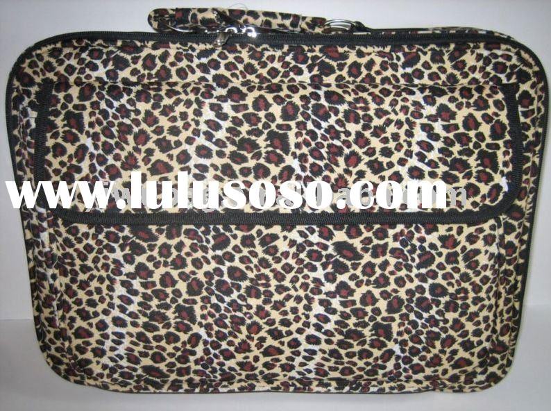 "leopard 17"" inch laptop case bag"