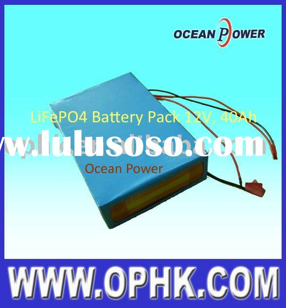 lithiium phosphate battery pack, rechargeable battery pack 12V 40Ah LiFePO4
