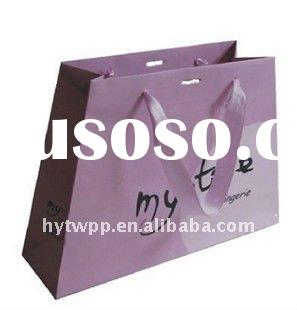 luxury gift paper bag with ribbon handle
