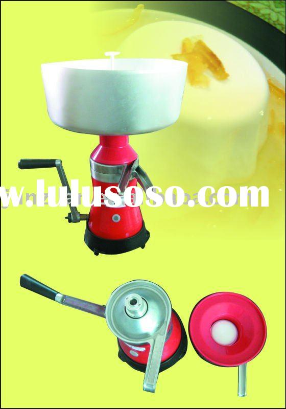 manual aluminium alloy milk cream separator machine