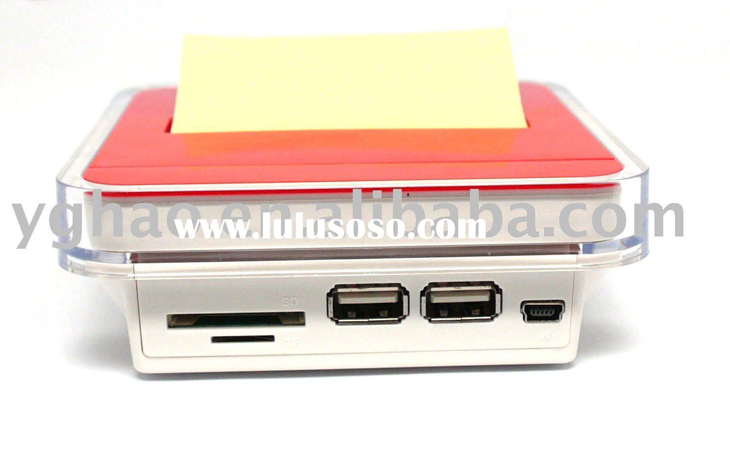 memo pad with USB hub and card reader;multifunction note dispanser