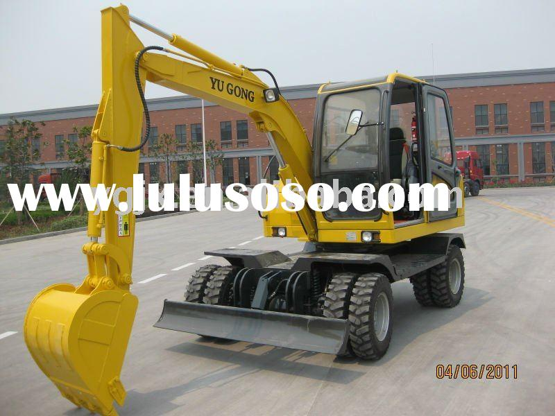 mini full hydraulic wheeled excavators for sales 4WD
