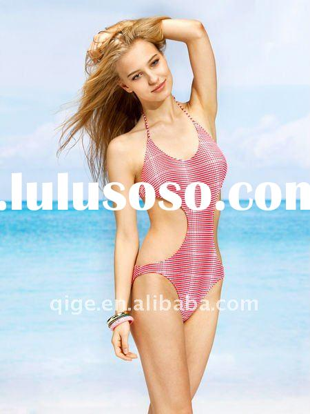 modern one-piece bathing suit for women