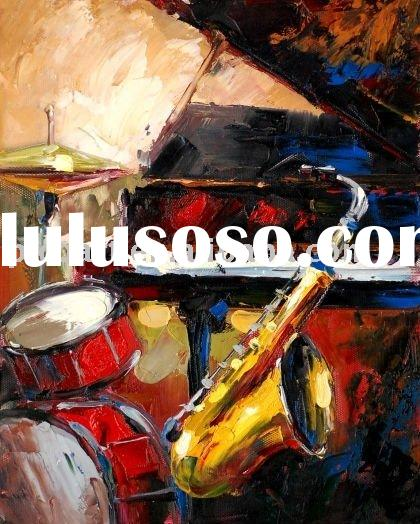 musical instrument paintings(oil on canvas)