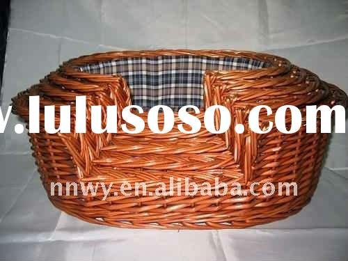 new style of willow pet basket with competitive price