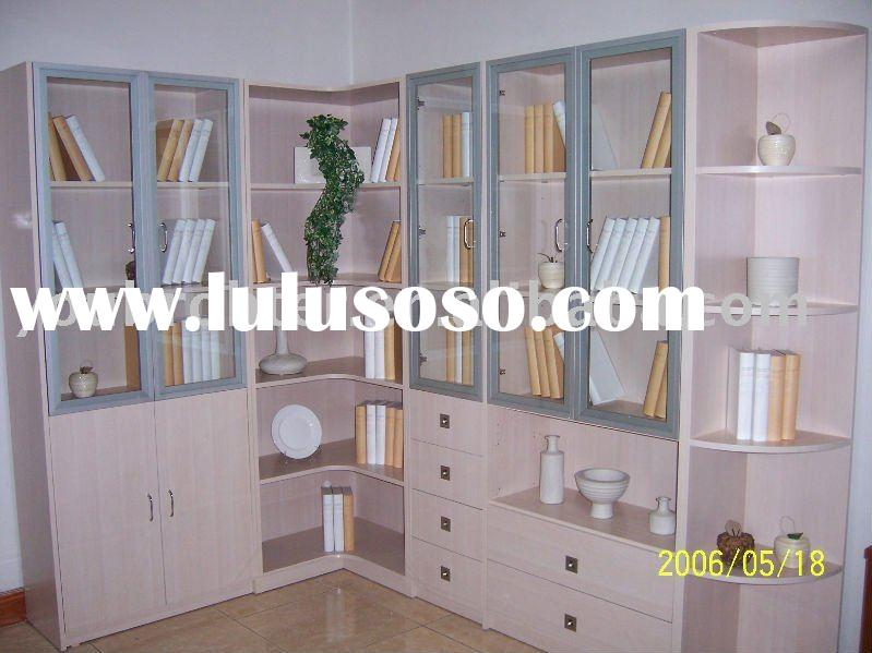 office cabinet,wood display cabinet with glass door