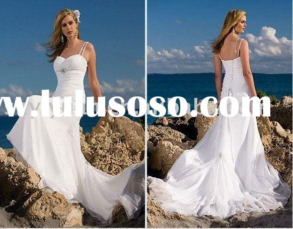 one-shoulder evening gown/ Fashionable white wedding dress