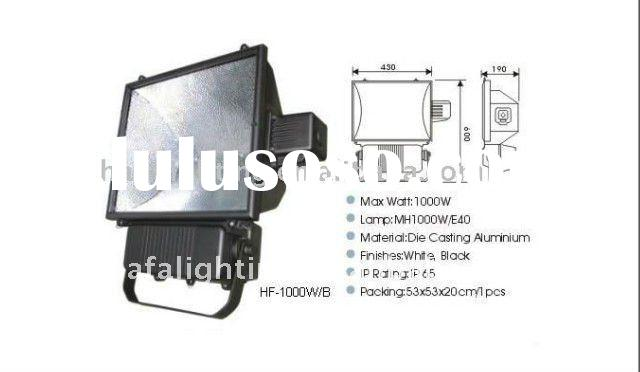 outdoor Flood Light 1000w , IP65 , thermal glass , die casting aluminum Metal Halide
