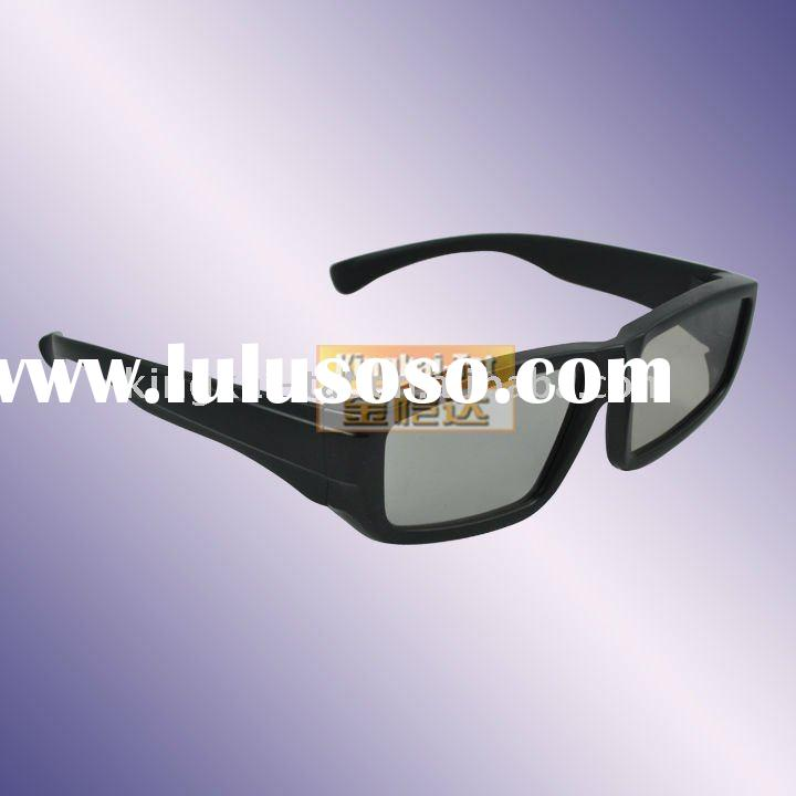 plastic circular polarized 3d glasses for cinema 3d TV