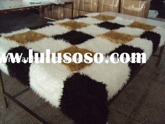 polyester faux fur throw blanket