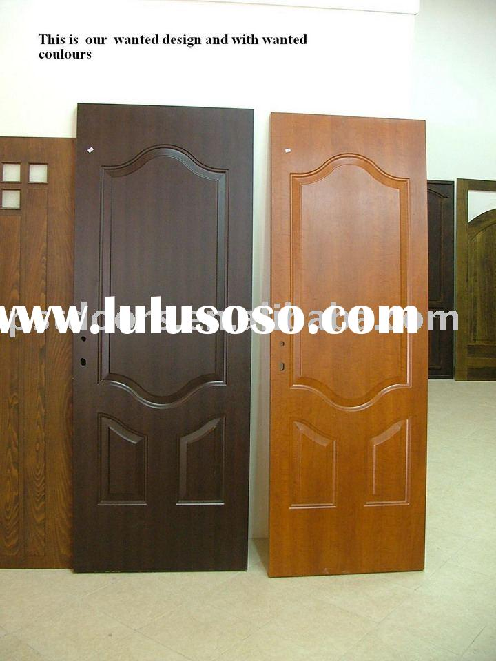 pvc coated steel doors(pvc steel paneled doors/pivotal doors with panels)