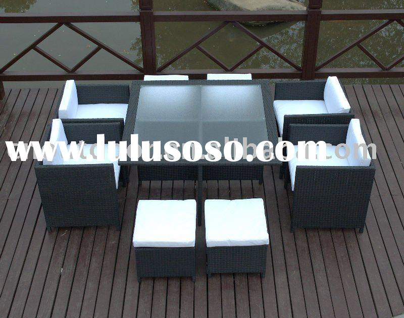 rattan table and chair/restaurant table and chair