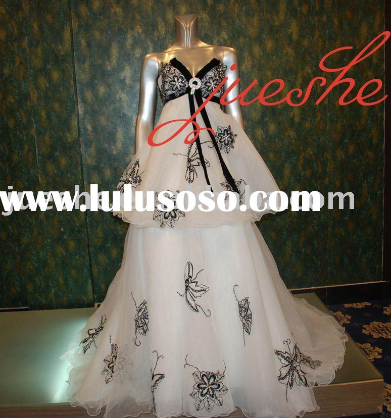 real sample long organza embroidery evening dress
