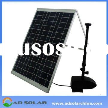 solar powered irrigation water pump for agriculture with 50W solar panel