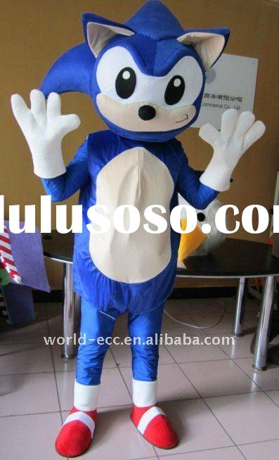 sonic mascot costumes, sonic cartoon costumes,carnival sonic costumes