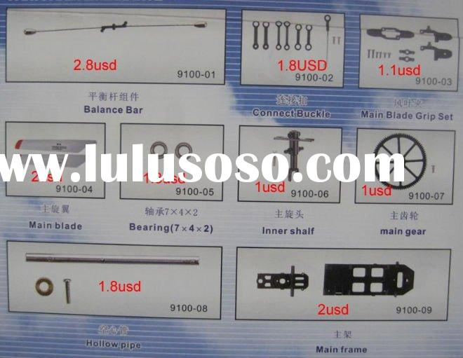 spare parts for DH9100 rc helicopter double horse 9100 parts