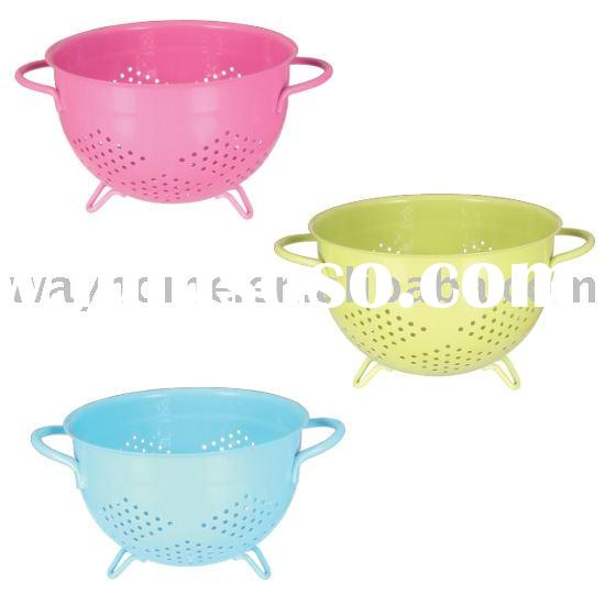 stainless steel colander,Strainer,Mini Colander w/long Handle,BASKET COLANDER STEAMER,Chinois,Food M