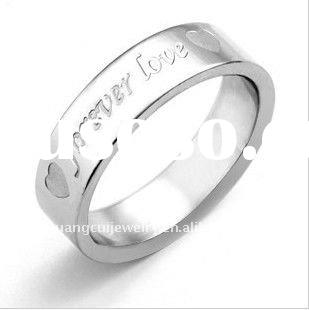 stainless steel corrosion rings forever love ring men's stainless steel rings