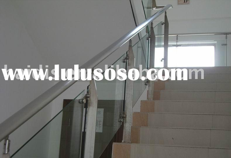 stainless steel stair balustrade glass railing