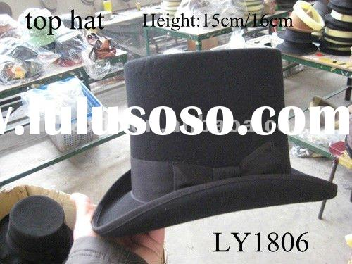 tall top hat felt 100% wool new style