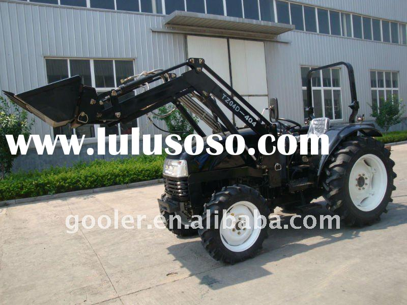 tractor with loader, DQ404, 40HP, 4x4, attachment with 4in1 front end loader, hydraulic pump excavat