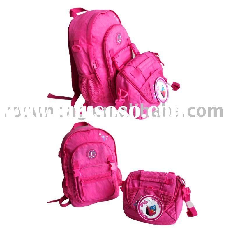two peices set school bag girls