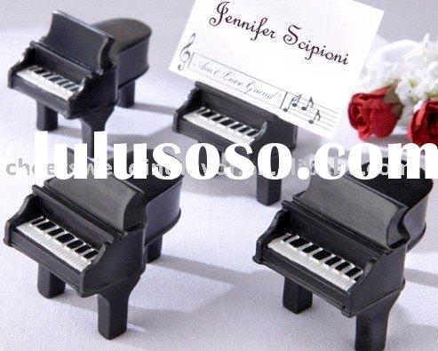 """wedding favor gift Ain't Love Grand?"""" Piano Place Card Holders with Cards"""