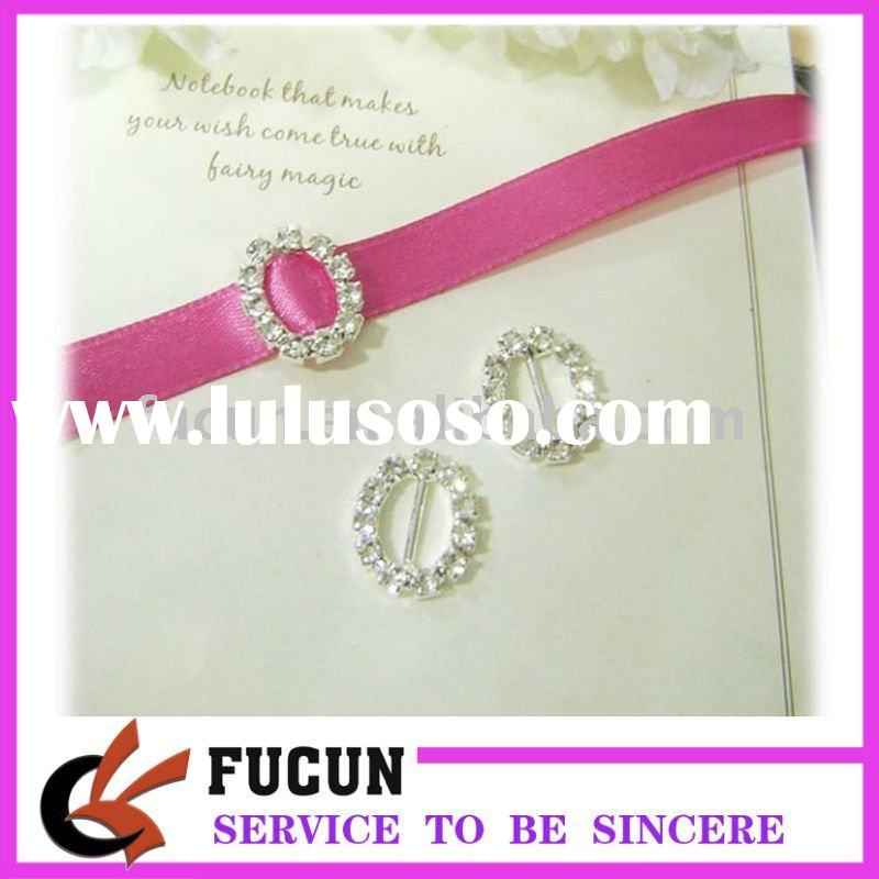 wedding invitation rhinestone heart buckle