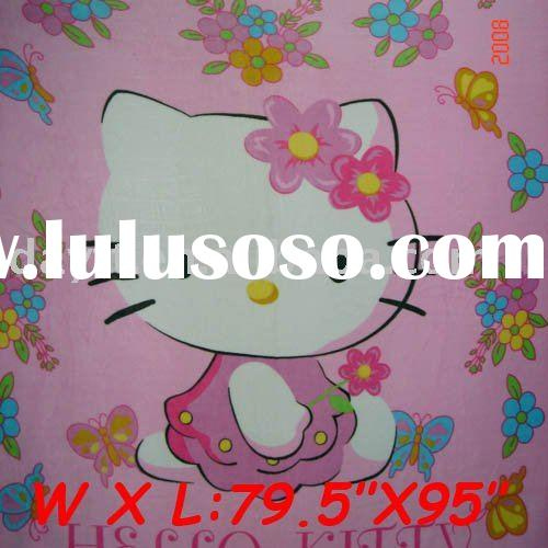 wholesale hello kitty coral fleece blanket mix order & drop shipping C1158