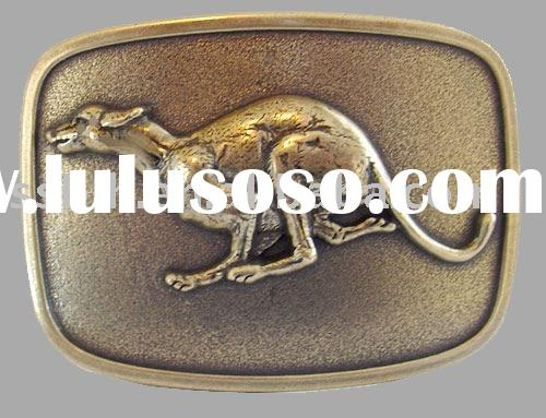 zinc alloy greyhound animal belt buckle