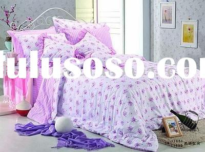 100% cotton printed duvet cover set -beautiful flower huse