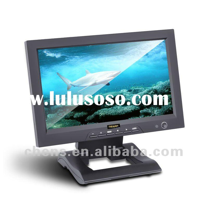 10.1 inch car pc monitor with VGA HDMI DVI AV input Multi-touch LCD Monitors