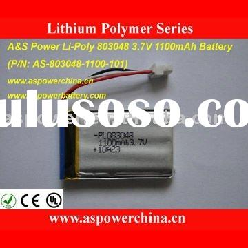 1100mAh Lithium Polymer Rechargeable Battery Packs 803048