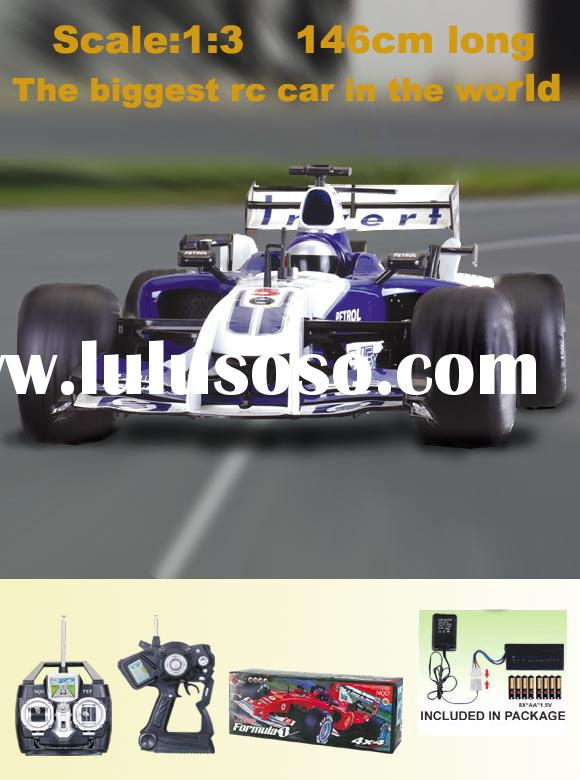 1:3 4 wheel drive rc F1 car, the total length is 146cm, 7 channel, can connect to Mp3