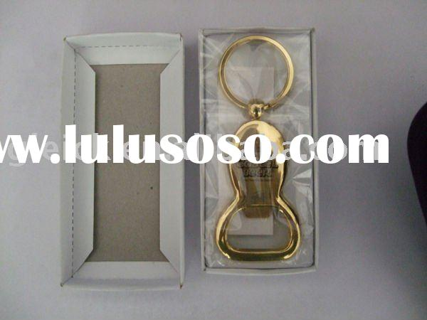 2011 Hot Custom Zinc Alloy Beer Bottle Opener with keychain