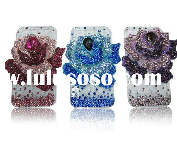 2011 Luxury 3D Flower diamond case for iPhone 4 4G