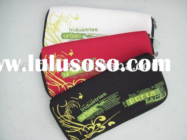 2011 back to school Pattern neoprene pencil bag with different colors