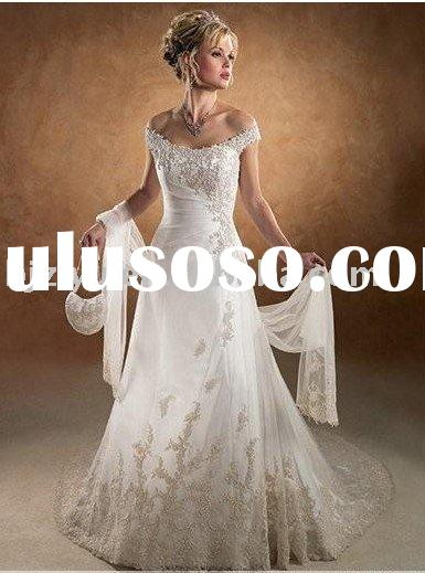 2011 embroidered and fashion style bridal wedding dress