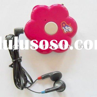 2011 hot; Mini FM radio with LED light;FM auto scan radio with earphone;gift mini radio
