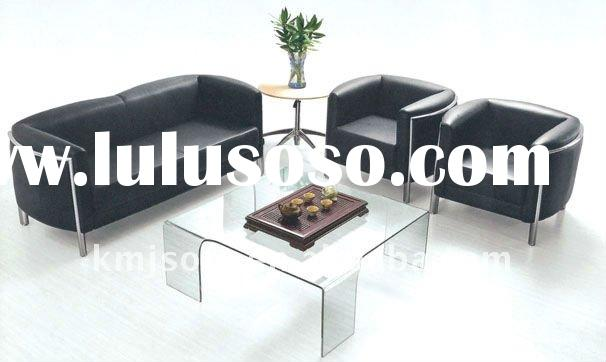 2011 hot sale black office leather sofa G172